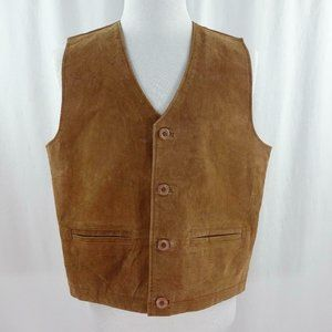 Beyond Leather Genuine Suede Leather Vest
